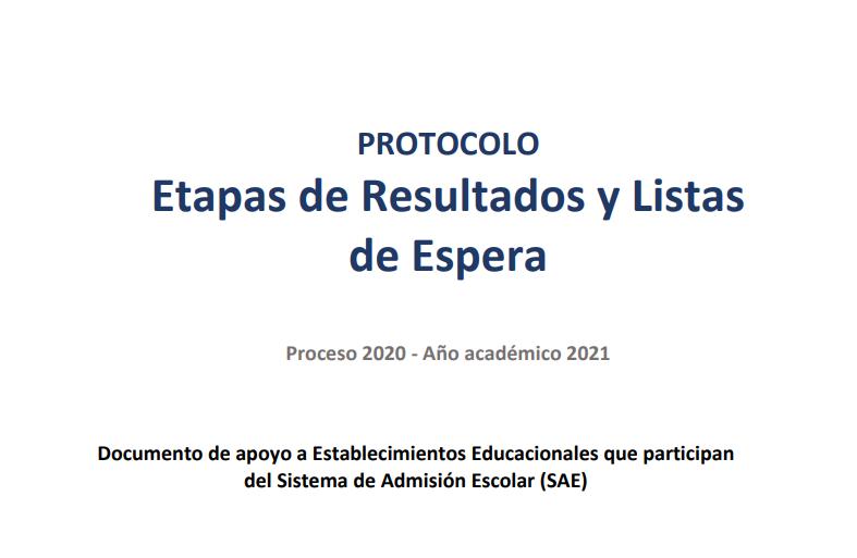 Protocolo Resultados y listas de esperas
